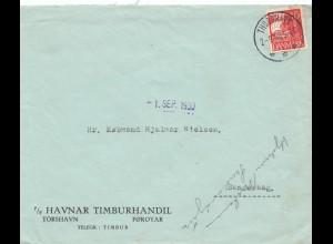Dänemark: 1930: Törshavn nach Sandevaag