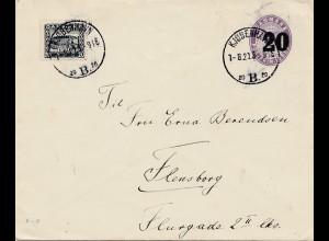 Dänemark: 1921: Brief aus Kopenhagen nach Flensburg