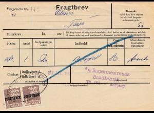 Dänemark: 1961: Fragtbrev nach Esbjerg