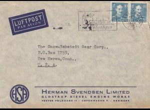 Dänemark: 1948: Luftpostbrief Kopenhagen nach USA