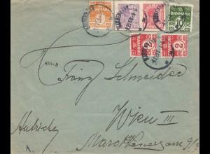 Dänemark: 1925: Brief Kopenhagen nach Wien