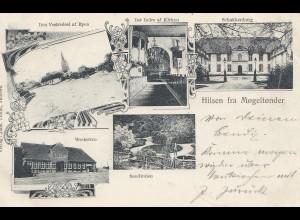 Dänemark: 1907: Ansichtskarte Hilsen anch Klanxbüll
