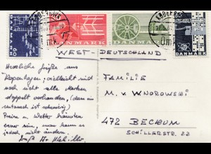 Dänemark: 1967: Ansichtskarte Kopenhagen nach Beckum