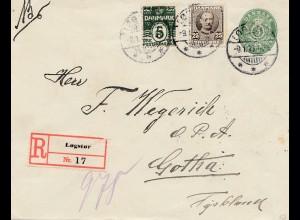 Dänemark: 1913: Einschreiben von Logstor nach Gotha