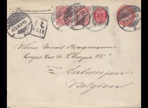 Dänemark: 1902: Brief von Kopenhagen nach Belgien