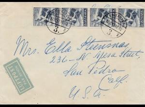 Dänemark: 1917: Brief als Luftpost von Kopenhagen in die USA