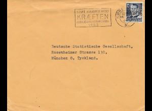 Dänemark: 1953: Brief nach München - Perfin
