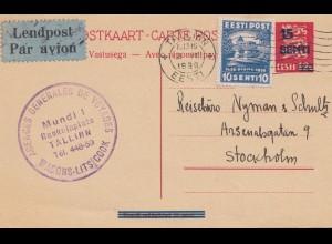 Dänemark: 1936: Luftpost von Tallinn nach Stockholm