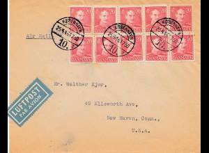 Dänemark: 1946: Luftpost Kopenhagen nach USA