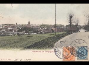 Dänemark: 1904: Ansichtskarte Noestved nach Sachsen