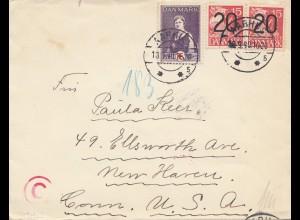 Dänemark: 1940: Brief nach USA - OKW Zensur