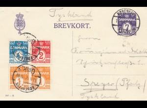 Dänemark: 1932: Ganzsache von Kopenhagen nach Speyer