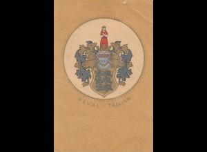 Estland: Ansichtskarte Wappen Tallinn