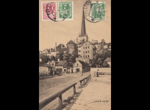 Estland: 1923 Ansichtskarte Tallinn