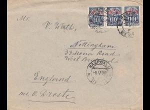 Estland: 1928 Brief Haapsalu nach England