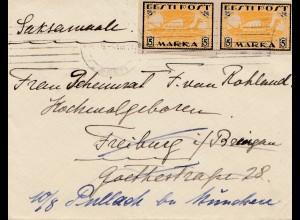 Estland: 1921: Brief nach Deutschland