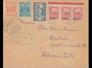 Estland: 1930: Brief von Tallinn nach Dänemark