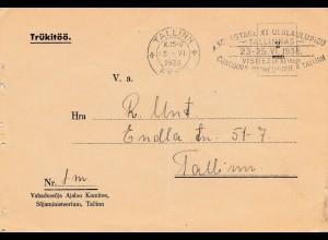 Estland: 1928: Tallinn Karte