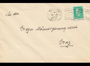 Estland: 1938: Brief von Tallinn nach Graz
