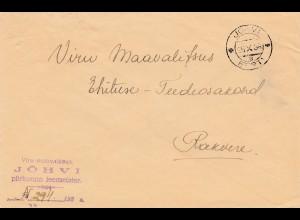 Estland: 1935: Brief von Jöhvi