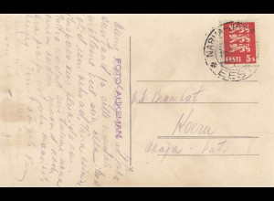 Estland: 1935: Ansichtskarte Narva