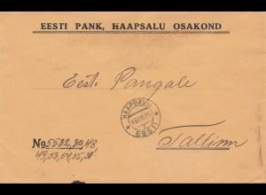 Estland: 1925: Brief aus Haapsalu