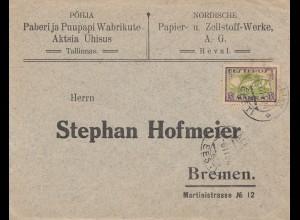 1924 Papier und Zellstoff Werke Reval nach Bremen