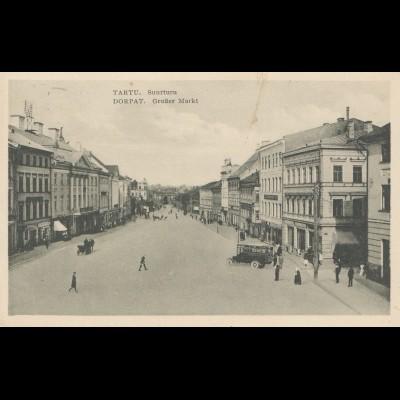 Estland: 1933: Ansichtskarte Tartu