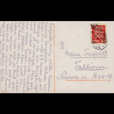 Estland: 1930: Ansichtskarte Mädchen