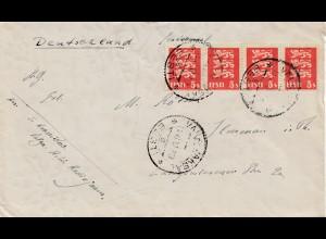 Estland: 1938 Brief nach Deutschland