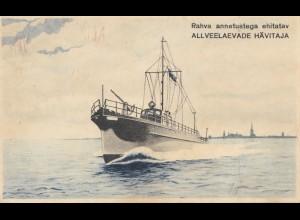 Estland: Ansichtskarte All Veelaevade Hävitaja, Schiff