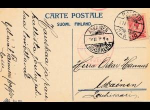 Finnland: 1916: Ansichtskarte Neujahr nach Askainen