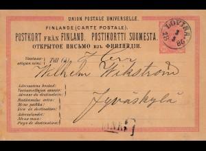 Finnland: 1886: Ganzsache Lovisa