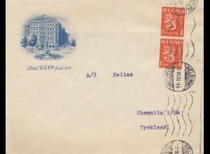 Finnland: 1930: Brief von Helsinki nach Deutschland