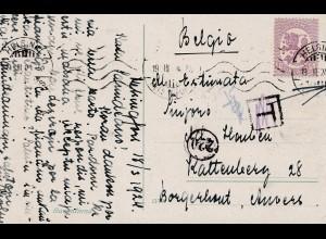 Finnland: 1924: Ansichtskarte Helsinki nach Belgien