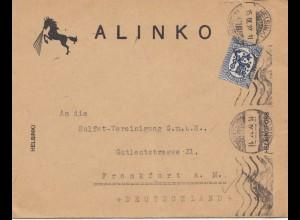 Finnland: 1927 Helsinki nach Frankfurt/M - Pferd