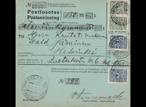 Finnland: 1916: Postauftrag Tampere