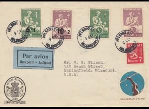 Finnland: 1964 Luftpostbrief Helsinki nach USA