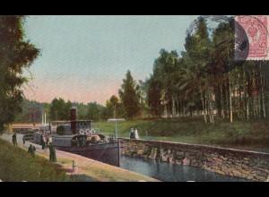 Finnland: 1910: Ansichtskarte Ruovesi, Murole canal