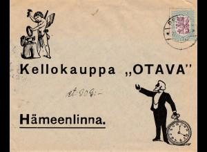 Finnland: 1928: nach Hämeenlinna; Uhr, Engel, Schmied, Ring
