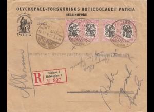 Finnland: Einschreiben 1924 Helsinki nach München
