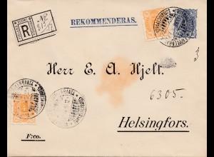 Finnland: 1894: Einschreiben nach Helsingfors
