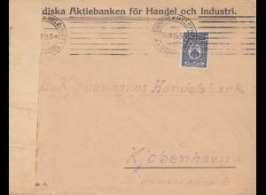Finnland: 1915: Helsinki nach Kopenhagen - Zensur