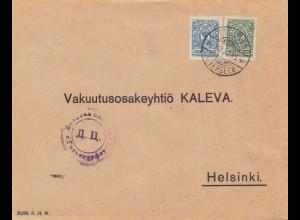 Finnland: 1915: Petäjaves nach Helsinki