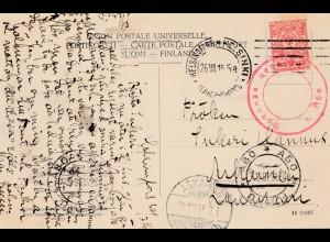 Finnland: 1916: Ansichtskarte Helsinki