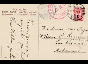Finnland: 1915: Neujahrskarte nach Askainen