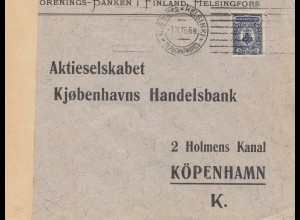 Finnland: 1916: Helsinki nach Kopenhagen/Dk, Zensur