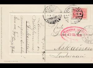 Finnland: 1916: Glückwunschkarte nach Askainen