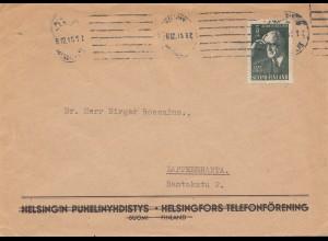 Finnland: 1945: Brief von Helsinki nach Lappeenranta