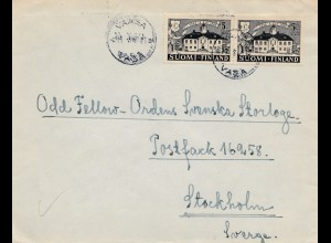 Finnland: 1946: Vaasa nach Stockholm